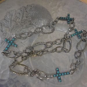 Jewelry - 36 inch chain necklace with crosses!